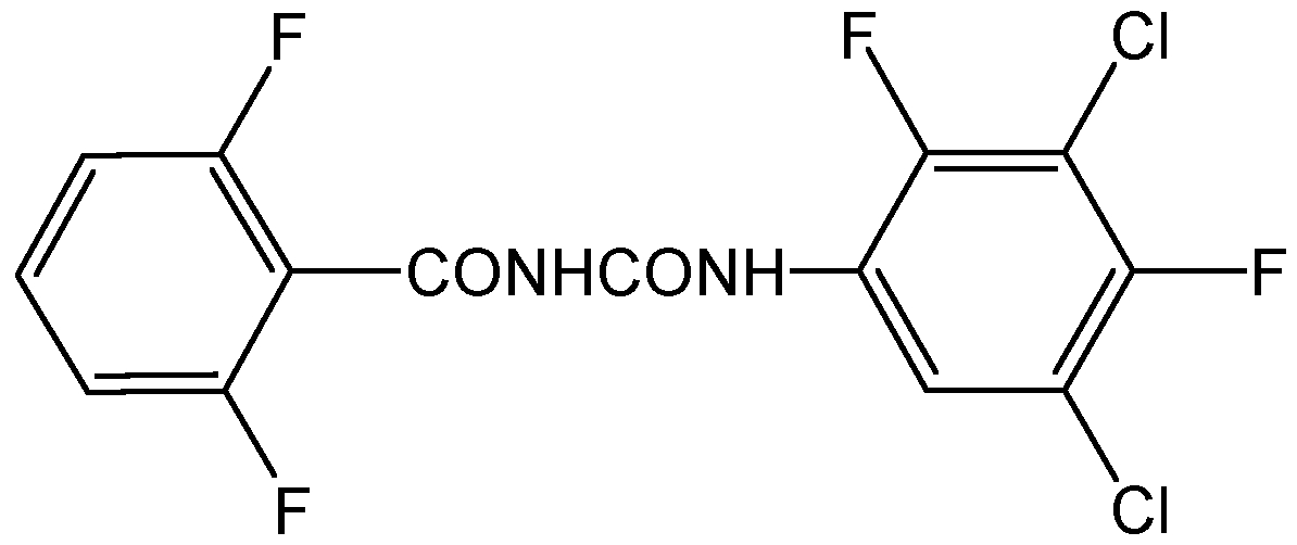 Chemical Structure for Teflubenzuron