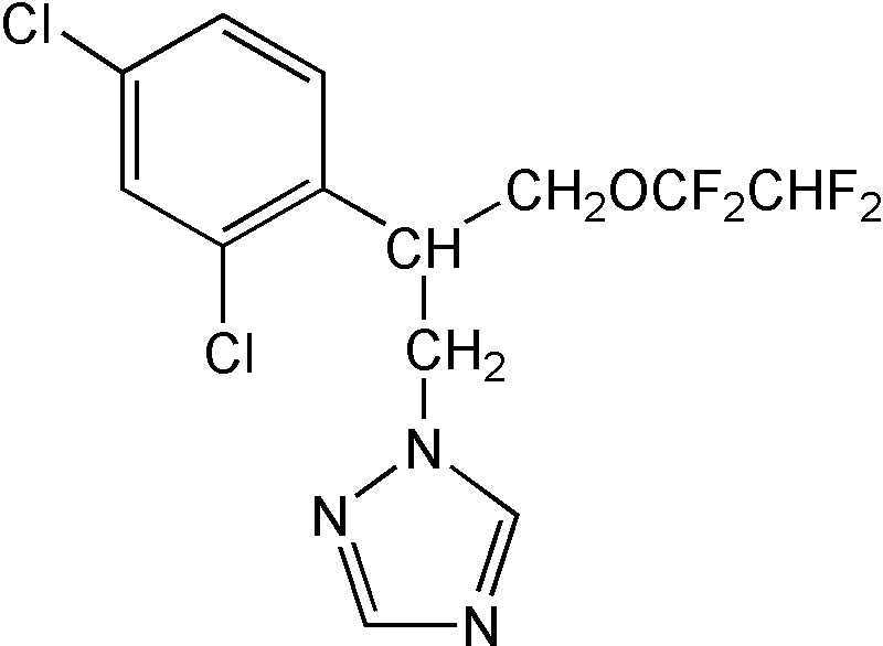 Chemical Structure for Tetraconazole