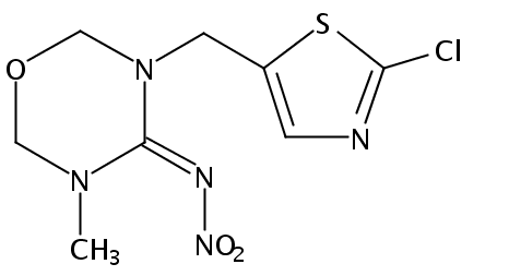 Chemical Structure for Thiamethoxam