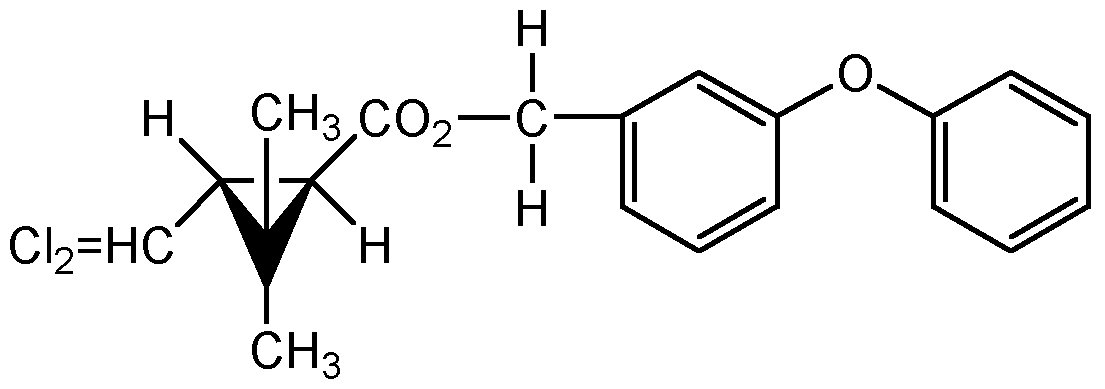 Chemical Structure for trans-Permethrin