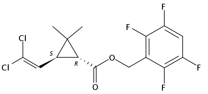 Chemical Structure for Transfluthrin