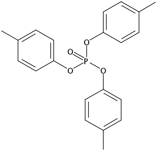 Chemical Structure for Tri-p-tolylphosphate