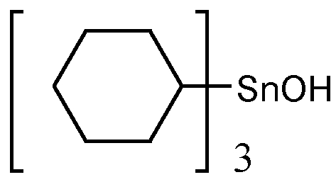 Chemical Structure for Tricyclohexyltin hydroxide