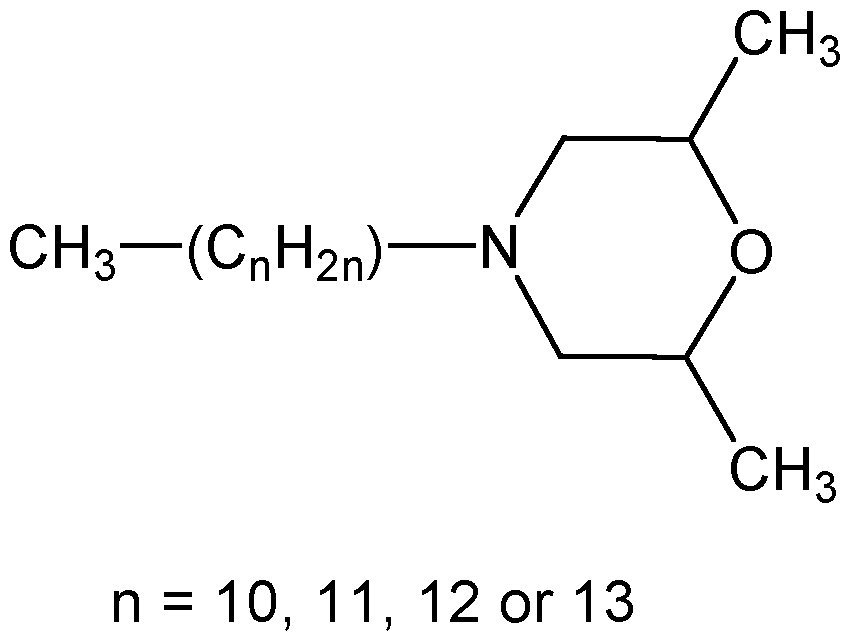 Chemical Structure for Tridemorph (Mix of Isomers)