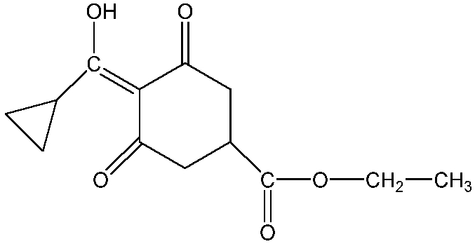 Chemical Structure for Trinexapac-ethyl