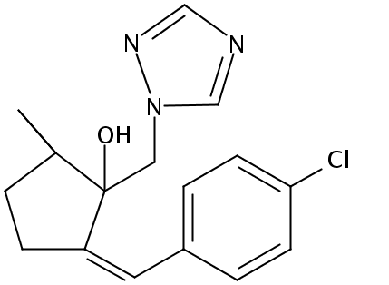 Chemical Structure for Triticonazole