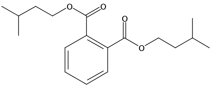 Chemical Structure for Diisoamyl phthalate