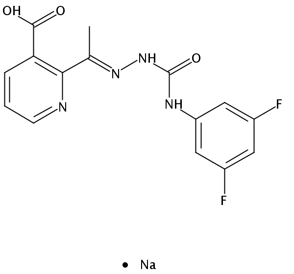 Chemical Structure for Diflufenzopyr sodium salt