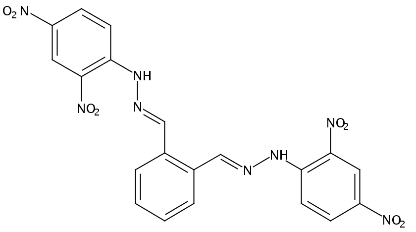 Chemical Structure for Phthaldialdehyde (DNPH Derivative)