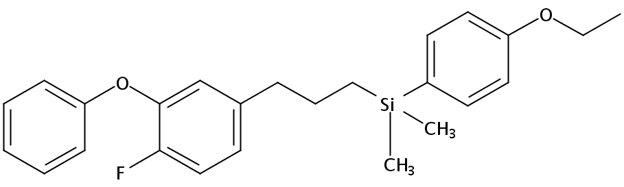 Chemical Structure for Silafluofen