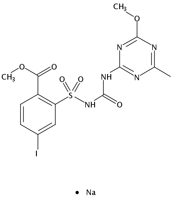 Chemical Structure for Iodosulfuron-methyl-sodium