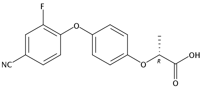 Chemical Structure for Cyhalofop