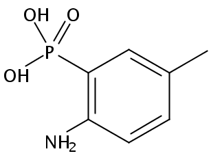 Chemical Structure for (2-Amino-5-methylphenyl)phosphonic acid