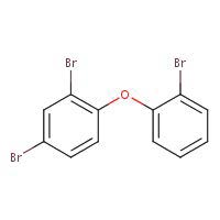 Chemical Structure for 2,2',4-Tribromodiphenyl Ether - (BDE 17)