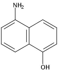 Chemical Structure for 5-Amino-1-naphthol