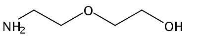 Chemical Structure for 2-(2-Aminoethoxy)ethanol