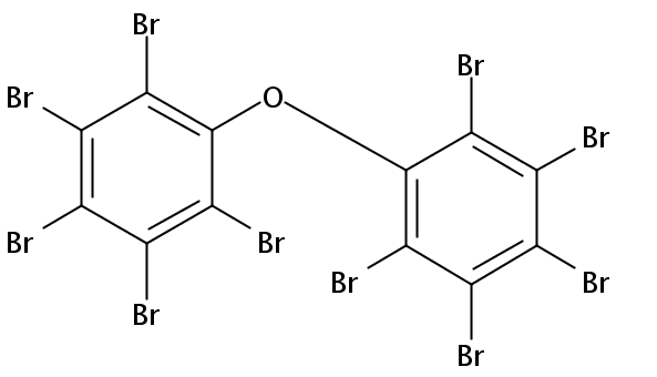 Chemical Structure for Decabromodiphenyl ether (BDE 209)