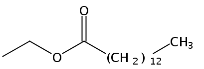 Chemical Structure for Ethyl myristate