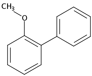 Chemical Structure for o-Methoxydiphenyl