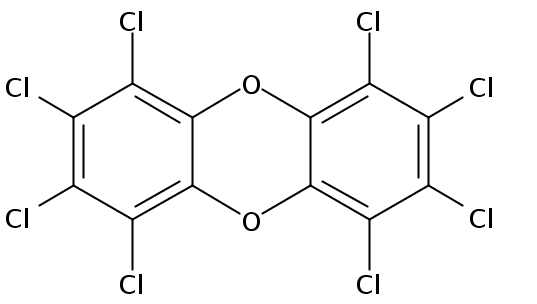 Chemical Structure for Octachlorodibenzo-p-dioxin