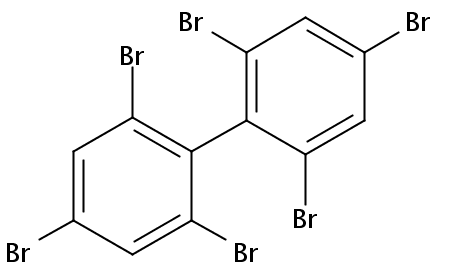 Chemical Structure for 2,2',4,4',6,6'-Hexabromobiphenyl
