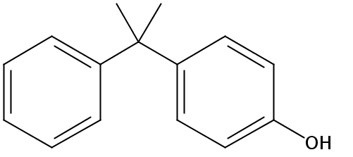 Chemical Structure for p-(2-Phenylisopropyl)phenol