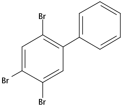 Chemical Structure for 2,4,5-Tribromobiphenyl