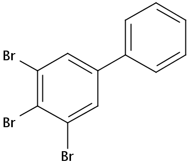 Chemical Structure for 3,4,5-Tribromobiphenyl