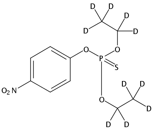 Chemical Structure for Parathion (diethyl-d10)