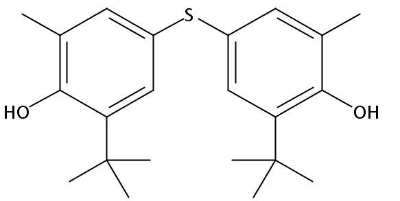 Chemical Structure for 4,4'-Thiobis(2-tert-butyl-o-methylphenol)