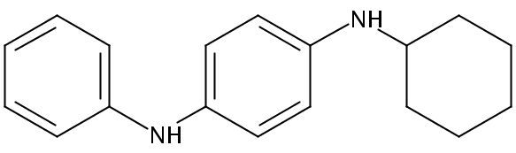Chemical Structure for N-Phenyl-N'-cyclohexyl-p-phenylenediamine