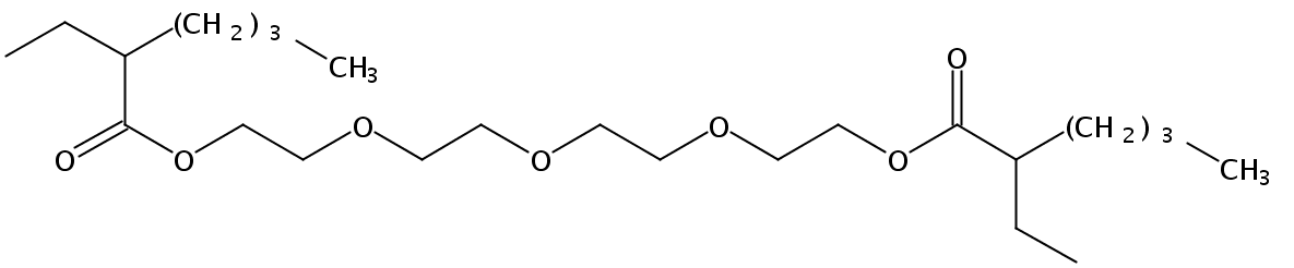Chemical Structure for Tetraethylene glycol di(2-ethylhexanoate)