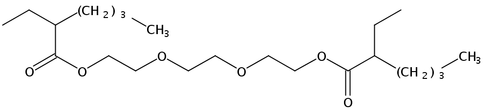 Chemical Structure for Triethylene glycol di(2-ethylhexoate)