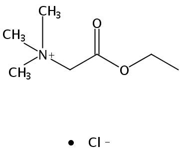 Chemical Structure for Betaine ethyl ester chloride