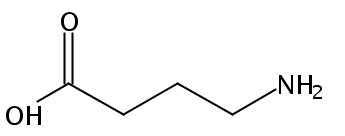 Chemical Structure for 4-Aminobutyric acid