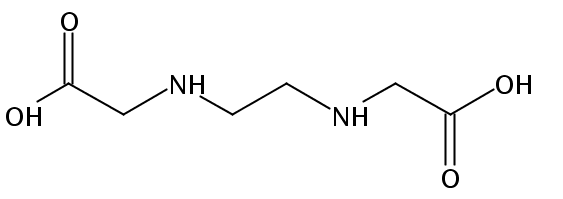 Chemical Structure for Ethylenediamine-N.N'-diacetic acid