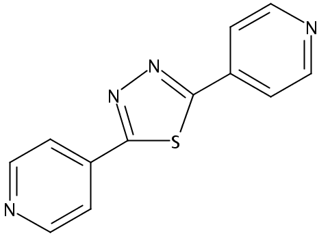 Chemical Structure for 2.5-Bis(4-pyridyl)-1.3.4-thiadiazole