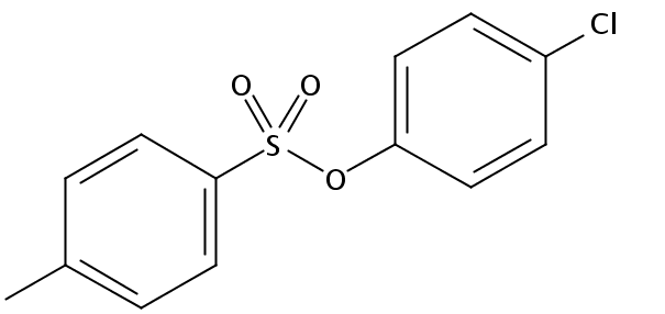 Chemical Structure for p-Chlorophenyl-p-toluenesulfonate