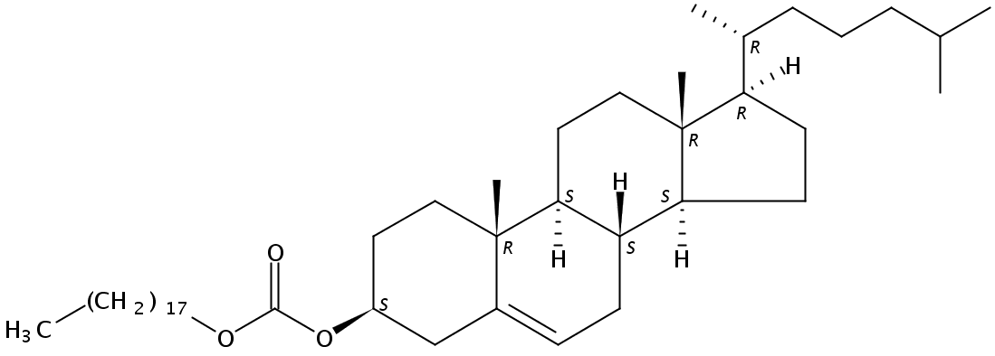 Chemical Structure for Cholesteryl octadecyl carbonate