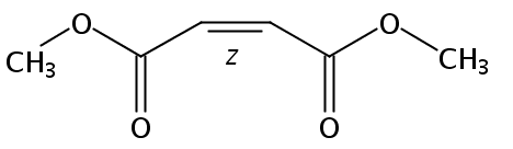 Chemical Structure for Dimethyl maleate