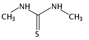 Chemical Structure for N.N'-Dimethylthiourea