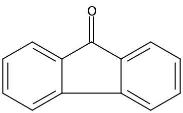 Chemical Structure for 9-Fluorenone