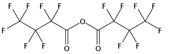 Chemical Structure for Heptafluorobutyric anhydride
