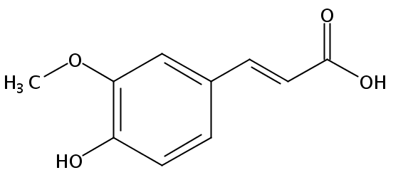 Chemical Structure for 4-Hydroxy-3-methoxy cinnamic acid