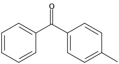 Chemical Structure for 4-Methylbenzophenone