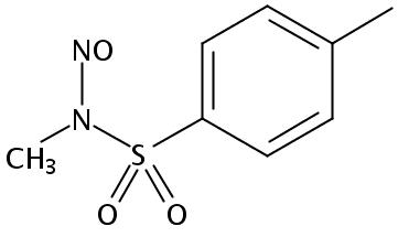Chemical Structure for N-Methyl-N-nitroso-p-toluenesulfonamide