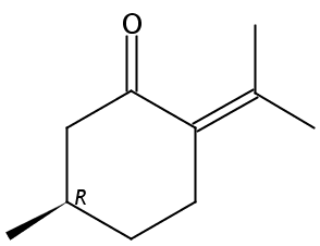 Chemical Structure for (+)-Pulegone