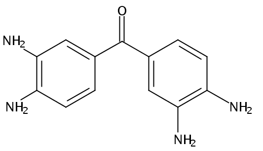 Chemical Structure for 3.3'.4.4'-Tetra aminobenzophenone