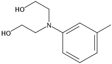 Chemical Structure for 2.2'-m-Tolyliminodiethanol