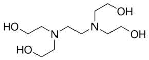 Chemical Structure for Tetraethanol ethylenediamine